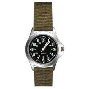 Field Watch Khaki Nylon Strap Black Face